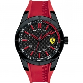 SCUDERIA FERRARI only time man watch RED REV red 44mm FER0830299