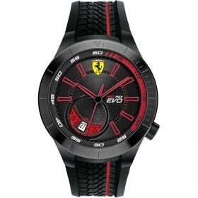 SCUDERIA FERRARI only time man watch RED REV-EVO chess 45mm FER0830339