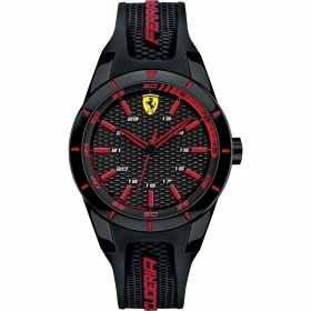 SCUDERIA FERRARI only time man watch RED REV 38mm FER0840004