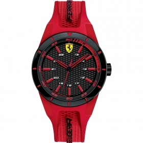 SCUDERIA FERRARI only time man watch RED REV 38mm FER0840005