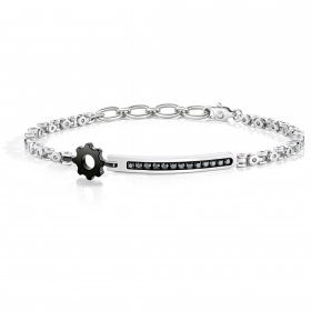 SECTOR NO LIMITS BRACELET man SAGJ08 MARINE steel black crystals MIS.22