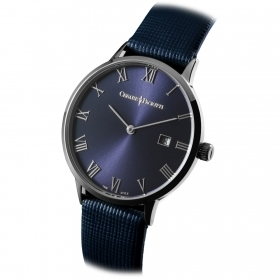 CESARE PACIOTTI Man Watch steel blue fabric date 42 mm case TSST110