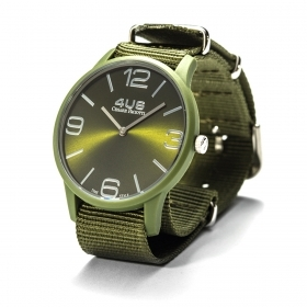 CESARE PACIOTTI mens Watch SLIM DIDIER green fabric 42mm T4UP149