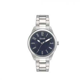Stroili watch Man time only blue numbers large 42mm 1619290