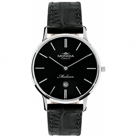 Mondia mens watch Madison black leather 39mm Ref.MI721-3CP
