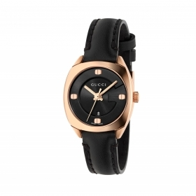 GUCCI woman watch GG22570 gold-plated pink leather 29mm YA142509