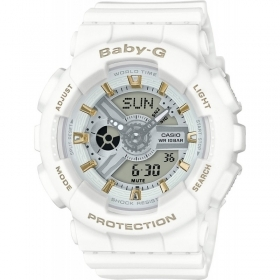 CASIO G-shock watch for men women white calendar alarm BA-110GA-7A1ER