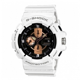 CASIO G-shock watch for men women white calendar alarm GA-100RG-7AER