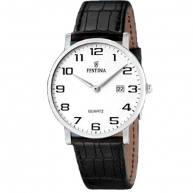 FESTINA man watch ELEGENCE F16476/1-only time leather 40mm