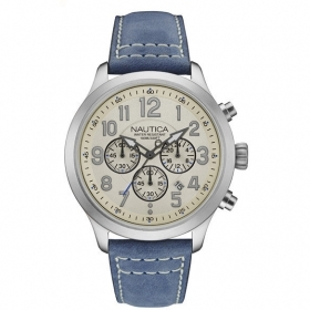 NAUTICA mens Watch chronograph 45mm Ncc 01 Chrono NAD14530G