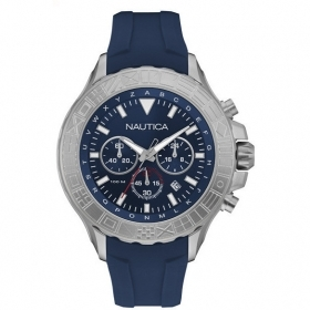 NAUTICA mens Watch chronograph 45mm Nst 1000 flags NAD18534G