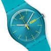SWATCH man Watch woman SUOL700 TURQUOISE REBEL turquoise date 41mm