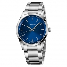 CALVIN KLEIN man Watch, BOLD time-only steel BLUE 41mm K5A3114N