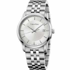 CALVIN KLEIN man Watch INFINITE only time sapphire SILVER 42mm K5S31146
