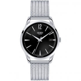 Henry London man watch Edgware the time-only date black 41mm HL39-M-0015