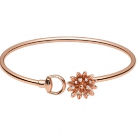 GUCCI bracelet women's 18kt rose gold FLORA diamond 17cm YBA434441001