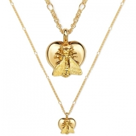 GUCCI necklace woman to The Marche Des Merveilles heart bee 18kt gold YBB415249001