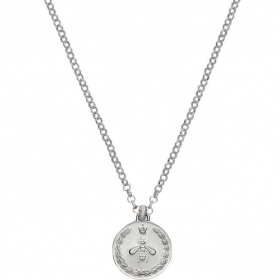 GUCCI necklace women COIN silver charm pendant bee YBB415766001