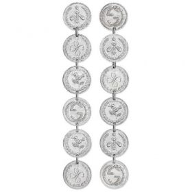 GUCCI earrings woman coin pendant silver COIN YBD433487001