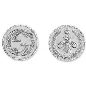 GUCCI earrings woman button coin silver COIN YBD433496001
