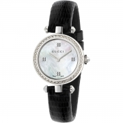 GUCCI woman watch DIAMANTISSIMA mother-of-pearl diamonds, 0.26 ct 27mm YA141507
