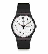 SWATCH man Watch woman SUOB705 TWICE AGAIN, and the date numbers are large 41mm