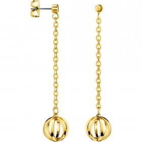 CALVIN KLEIN earrings woman SHOW stainless steel and PVD gold KJ4XJE100100