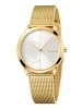 CALVIN KLEIN woman Watch stainless steel MINIMAL time only with gold 35mm K3M22526