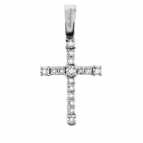 Salvini Necklace cross pendant diamonds 0.12 ct white gold 20060215
