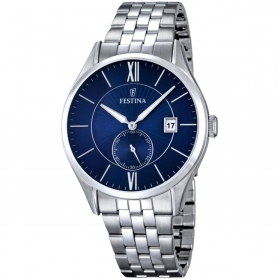 FESTINA Crongrafo man watch BACK steel BLUE 42mm F16632/3