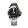 CESARE PACIOTTI mens Watch black steel STREET case 42mm date TSST011