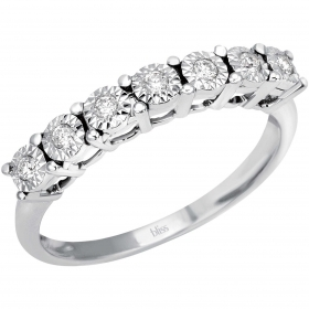Bliss ring, ring, woman Shines with 18kt white gold 7 diamonds 0.12 ct 20069897