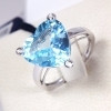 Bliss ring heart woman Crayons 18kt white gold 3 diamonds 0.016 topaz 20004878