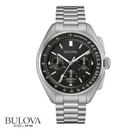 Bulova man Watch Apollo 15 262Khz Moon Watch 96B258 steel chrono 45mm