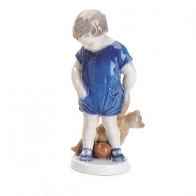 Royal Copenhagen boy with teddy bear 13cm Figurines 5021081
