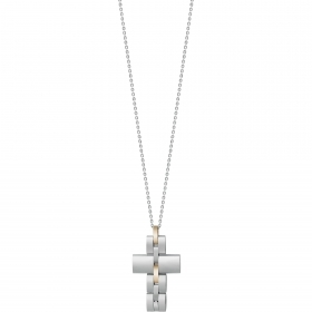 Bliss necklace mesh man Admiral gold stainless steel cross 20071727