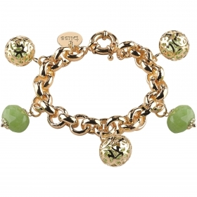 Bliss bracelet woman aluminum Outfit gold jade 20071427