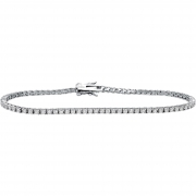 Bliss tennis bracelet woman silver Wire cubic zirconia white silver 20070310