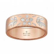 GUCCI ring women's band wedding ring Icon Blooms gold mis.17 YBC434525002