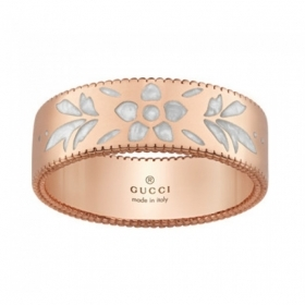 GUCCI ring women's band wedding ring Icon Blooms gold mis.13 YBC434525002