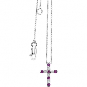 Bliss necklace cross woman Cab