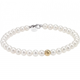 Bliss bracelet woman 56 pearls Paradise 18kt gold 20070995