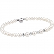 Bliss bracelet woman 28 pearls Paradise 18kt gold 20071009