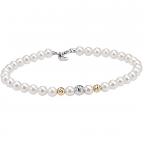 Bliss bracelet woman 32 pearls Paradise 18kt gold 20071007