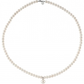 Bliss frau halskette collier perlen diamanten 0,01 ct 18kt gold 42cm 20068737