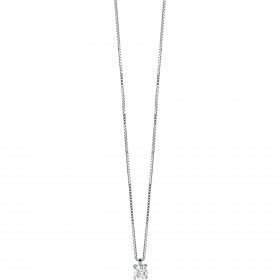 Bliss necklace light point woman Royale silver and cubic zirconia 20071457