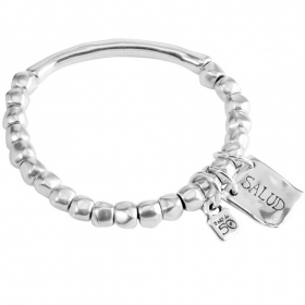 UNO de 50 bracelet for man and woman silver Healthy elastic mis. 18 PUL1209MTL0000M