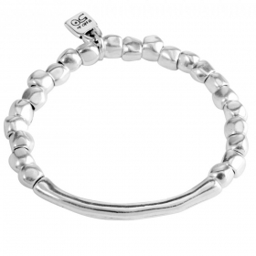 UNO de 50 cuff bangle women's silver Journey elastic 17 PUL1208MTL0000M