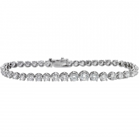 Bliss tennis bracelet woman silver Wire Design Daily silver 20070317