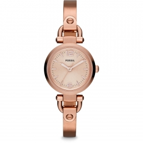FOSSIL woman watch hard steel with. rose gold Georgia Mini 26mm ES3268